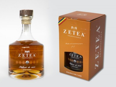 "Palincă premium de CAISE (0,5 l) Zetea - ""Vine Transilvania la tine"""
