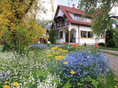 Vacanță fină în Bucovina - plimbare prin livadă și un minicurs despre florile sezonului, două mese bio pe zi, cazare în culcuș de lux, variantele de 2-7 nopți. Opțional - plimbare cu trăsura la Voroneț.